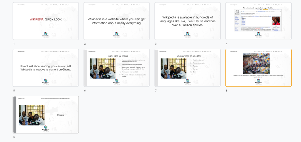 Screenshot of slides in the quick look presentation pdf